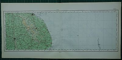 1922 Large Map ~ Lincolnshire Grimsby Lindsey Skegness Louth