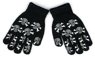 Glow In the Dark Skully Magic Stretchy Cotton Gloves One Size Fits Most #2