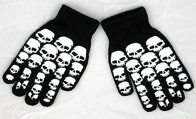 Glow In the Dark Skully Magic Stretchy Cotton Gloves One Size Fits Most #3