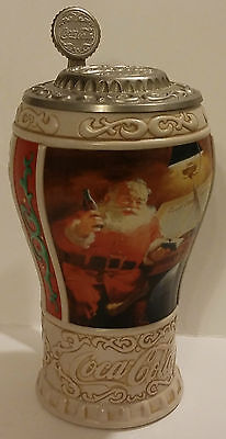 1996 Longton Crown The Coca-Cola Company Good Girls & Boys Lidded Stein W/coa