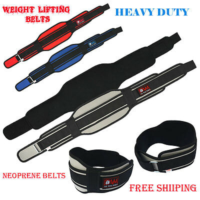 NEW Weight Lifting Neoprene 7.5 inch Belt Weightlifting Back Support Belt. NEW