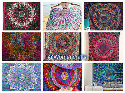Wholesale Lot Of 10 Pcs Indian Mandala Tapestry Wall Hanging Throw Home Decor