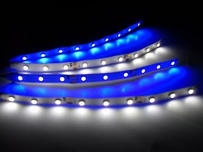 """RC Blue and White Underbody glow LED Strip Lights Superbright FPV Quadcopter 6"""""""