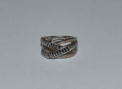 a46c59763 JWBR 925 STERLING Silver 1 cttw Diamond Crossover Band Ring - $99.95 ...