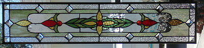 Stained Glass Window Hanging 33 1/4 X 7 1/4""