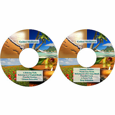 10 x Guided Meditation Relaxation Sessions on 2 CDs Stress Relief Help Sleep