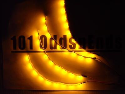 "RC Yellow Underglow LED Strip Lights Superbright FPV Quadcopter 6"" Underbody"