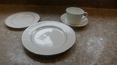 """Royal Doulton """"Finsbury"""" salad plate, bread plate & cup & saucer NEW!"""