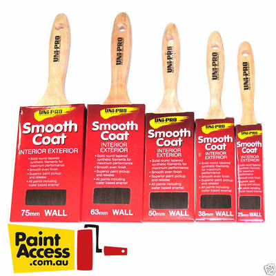 Paint Brushes/Pack of 5 Uni Pro Smooth Coat brushes 25mm, 38mm, 50mm,63mm, 75mm