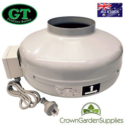 "6"" 150Mm Gt Air Inline Fan Centrifugal Intake Exhaust Fan"