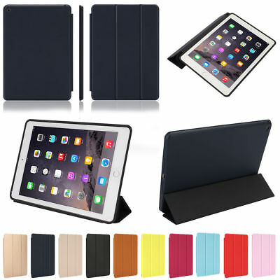 Luxury Slim Smart Leather Stand Cover Silicone Back Case for iPad mini/Air