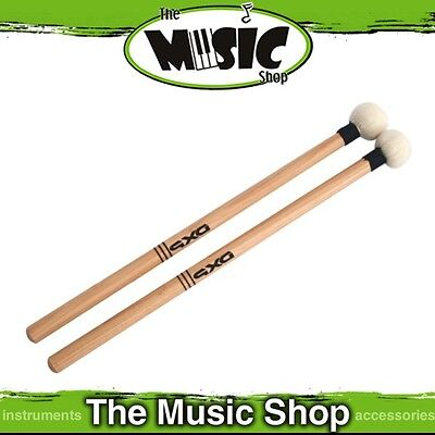 New Pair of DXP Timpani Mallets - Felt Head Wooden Drum Mallet - DBT215