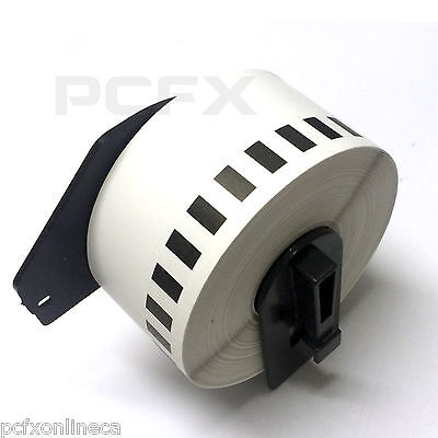 4 Pack  DK2225 DK-22225 Compatible Labels Rolls For Brother P–Touch QL Printers