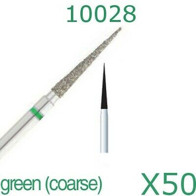 50x Dental Needle Taper 0.23 FG Diamond Burs for High Speed Handpiece by DSI