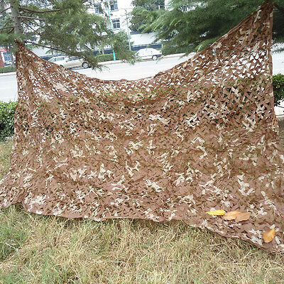 2Mx3M Military Desert Camouflage Net Camo Netting for Hunting Camping Tent Cover