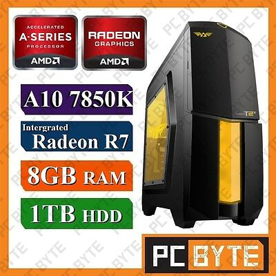 AMD 4 Core A10 7850K 4.0GHz 1TB 8GB RAM Radeon R7 Gaming Computer Desktop PC