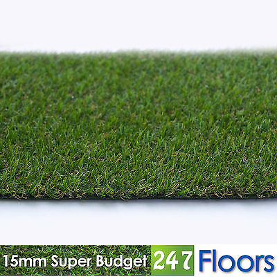 Artificial Grass, Quality Astro Turf, Cheap, Realistic Natural 15mm Super Budget