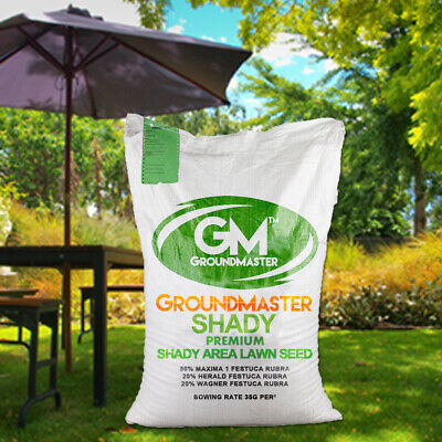 GroundMaster Shady Premium Dark Lawn Area Quality Grass Seed Various Sizes