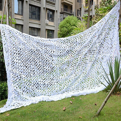 2Mx3M Snow White Digital Military Camouflage Net Jungle Net for Hunting Camping