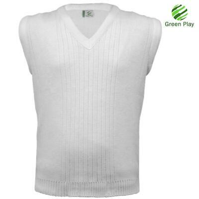Sleeveless V Neck Knit Bowling 7G Sweater Lot Adult Mens without Embroidery Top