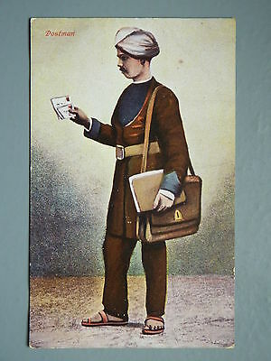 R&L Postcard: The Indian Postman, 1916