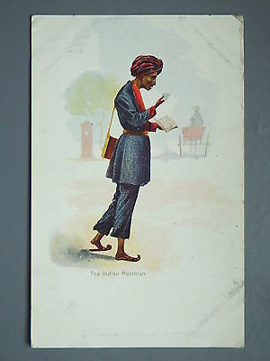 R&L Postcard: The Indian Postman, Early 20th C. Card