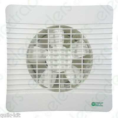 """Airvent 435404 Axial Low Profile Extractor Fan 150mm / 6"""" - Timer Model"""