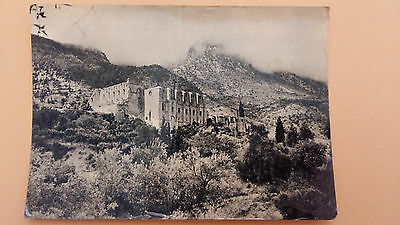 Cyprus postcard: Kyrenia -Bellabais Abbey from the North East-Antiquities Depart