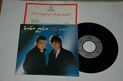"7""/+ PROMO BEILAGE/BO BO ZERO/FIRE AND ICE/ariola 108024"