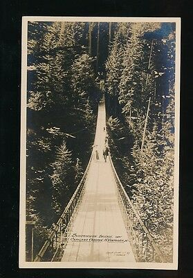 Canada BC VANCOUVER Capiland Canyon Suspension Bridge c1910/20s? RP PPC