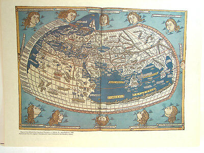 Vintage Map of the World by Claudius Ptolemy Reproduction Antique Print Collect!