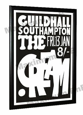 Cream Eric Clapton Concert Poster Guildhall Southampton 1967