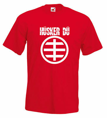 HUSKER DU T Shirt  Rock Punk Indie New Wave Retro Metal S-XXL 12 Colours