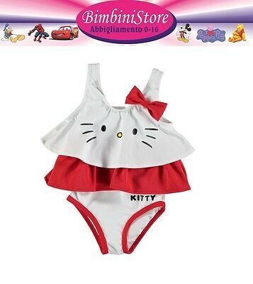 Costume mare  intero neonata hello kitty originale 0 3 6 9 12 18 24 mesi