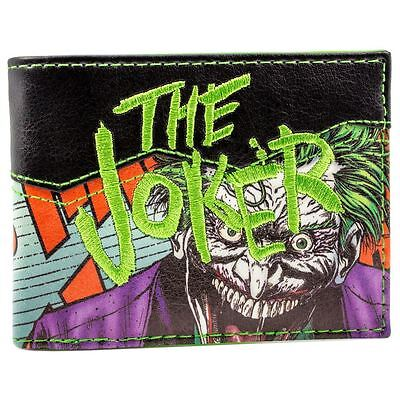 New Official Dc Comics Suicide Squad The Joker Black Id & Card Bi-Fold Wallet