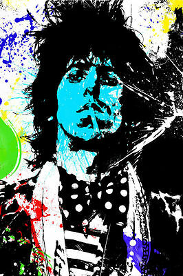 Keith Richards Graffiti Poster - Rolling Stones - Available in 3 Sizes