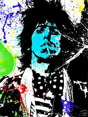 Keith Richards Rolling Stones Graffiti Canvas Art Print