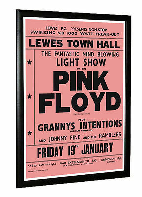 Pink Floyd Concert Poster Lewes Town Hall East Sussex 1968