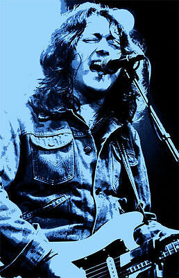 Rory Gallagher Mounted Canvas