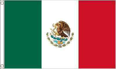 GIANT 8ft x 5ft (240 x 150cm) Mexico Mexican Polyester Material Banner Flag