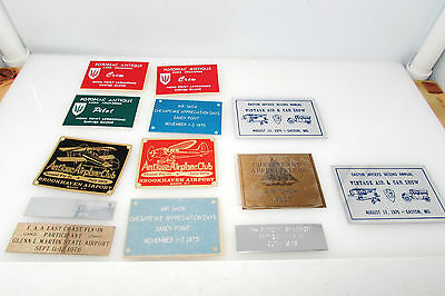 Vintage Antique Airplane Club Metal Plaques,signs,pins Collection_Make Offer