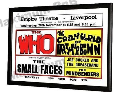 Small Faces Concert Poster Liverpool Empire 1968