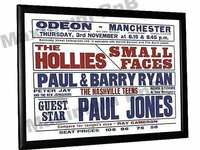 Small Faces Concert Poster Manchester Odeon 1966