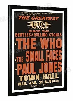 Small Faces Concert Poster New Zealand 1968