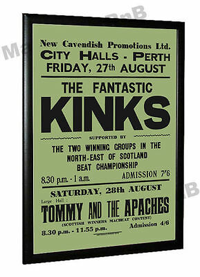 The Kinks 1965 Concert Poster Perth Scotland
