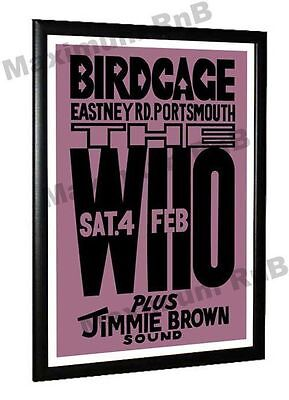 The Who Concert Poster Birdcage Club Portsmouth 1967