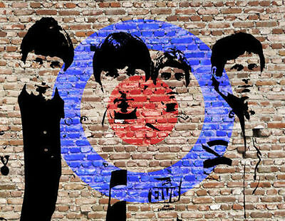 The Who Mod Target Framed Graffiti Canvas