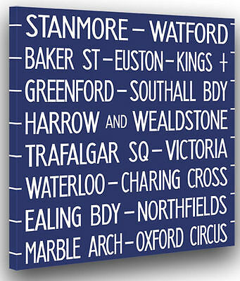 Victoria Charing Cross London Bus Destination Blind Canvas
