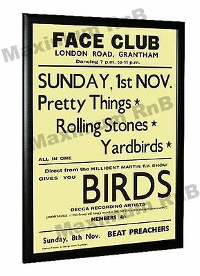 Yardbirds Concert Poster Face Club London Road Grantham 1964