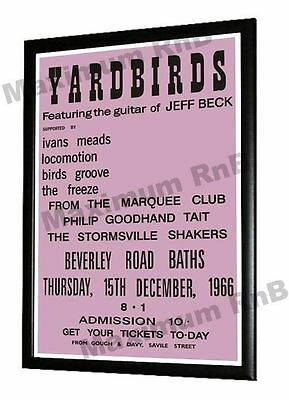 Yardbirds Jeff Beck Concert Poster Beverly Road Baths Hull 1966